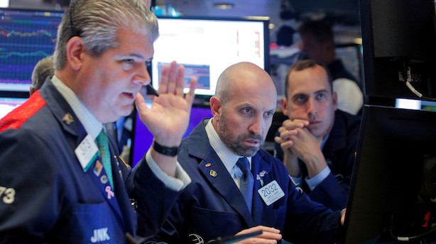 Aktieluk i USA: Små plusser efter negativ start - olieprisen faldt tilbage