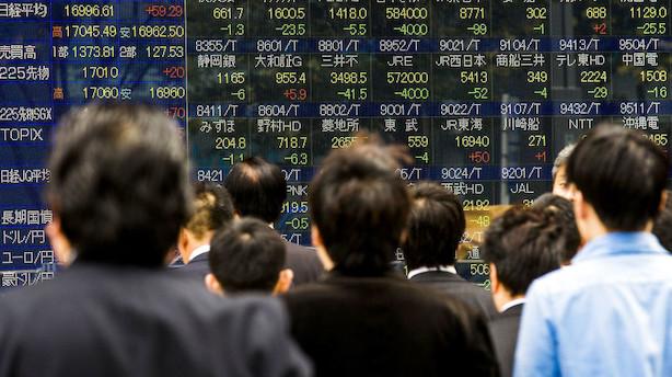 Aktier: Tokyo i højt humør trods sure miner i resten af Asien