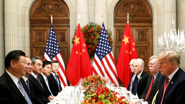 De er langt fra at lukke en aftale: Men USA og Kina tager en dag til med forhandlinger om at stoppe handelskrig