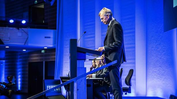 Karsten Dybvad i sin første beretning som formand i Danske Bank: 2018 var et lavpunkt