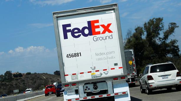 Fedex nedjusterer på grund af handelskrigen