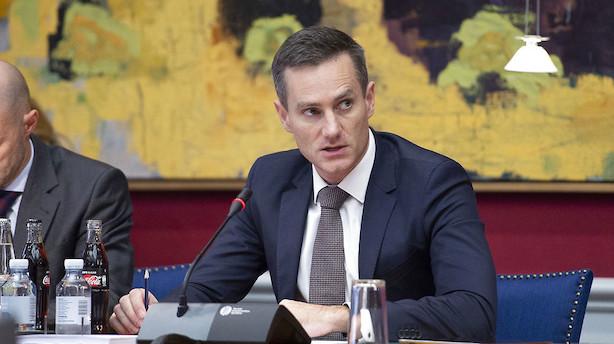 Erhvervsminister afviser gult kort fra EU om hvidvaskregler