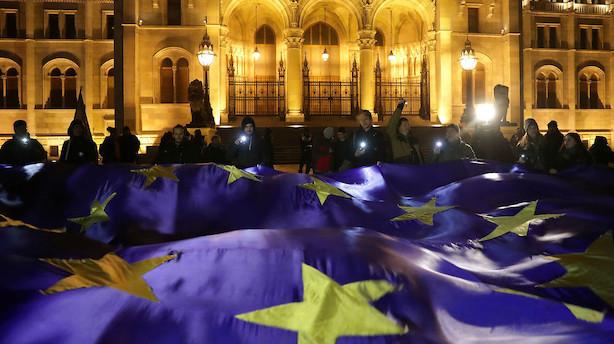 Historisk stor opbakning: To ud af tre bakker op om EU