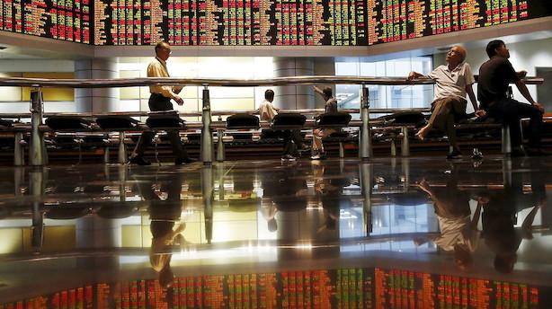 Aktier: Handelskrig og Hongkong-uro sender aktierne ned i Asien