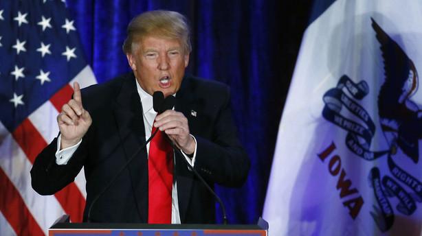 Trump: Jeg er beæret over at blive nummer to i Iowa