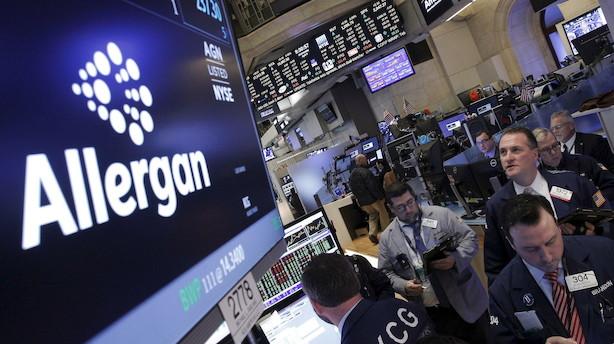Aktieåbning i USA: Gigantisk medicinalopkøb præger negativ aktiestart