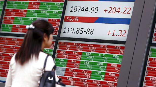 Valuta: Stærk yen på baggrund af uro og stigende risikofrygt