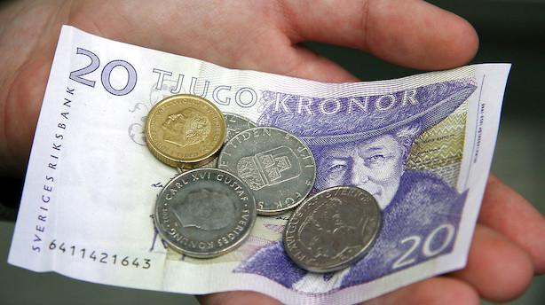 Valuta: Optur til den svenske krone efter godt nyt fra industrien
