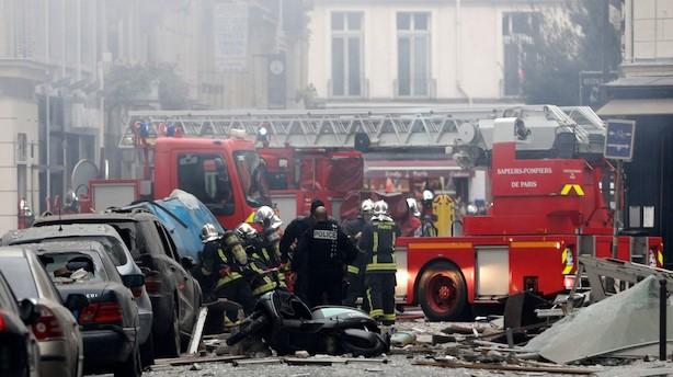 Mange meldes kvæstet af gaseksplosion i bageri i Paris