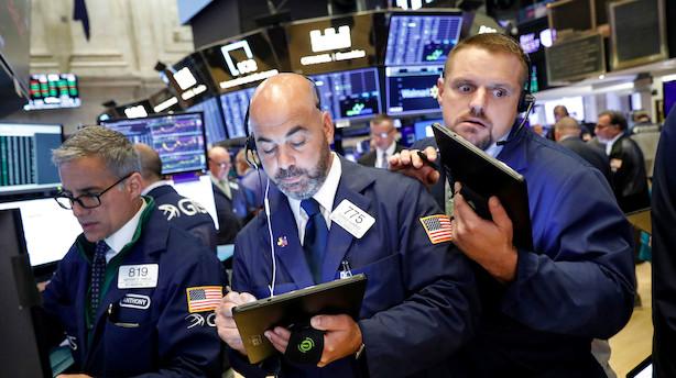 Aktieluk i USA: Fra minus til små plusser - banker fortsatte op