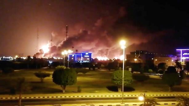 Droneangreb rammer olieanlæg i Saudi-Arabien