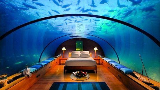 Hilton åbner ny undervandssuite