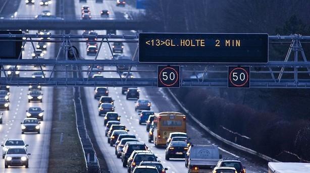Der kører fem gange så mange biler på vejene som i 1962