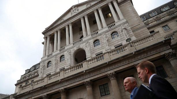 Bank of England fastholder pengepolitik - men ser snarlig stramning