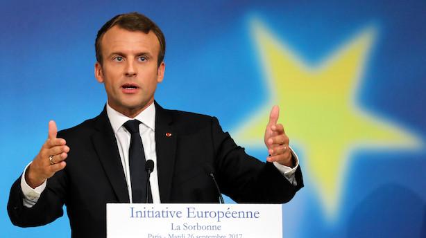 Macron vil gå efter Googles og Facebooks omsætning - ikke overskud