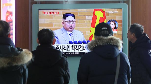 """""""Atomknappen er på mit bord,"""" siger Nordkoreas leder til Donald Trump"""