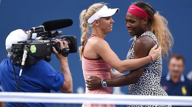 Serena Williams var for nervøs til at se Wozniackis triumf
