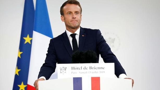 Macron opretter en fransk rumkommando til september