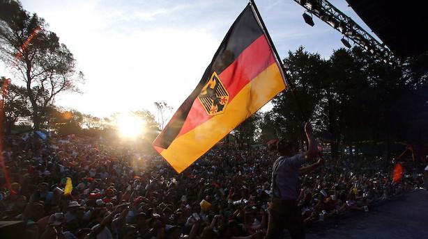 Tysklands økonomiske vækst var lidt højere end ventet i 2016