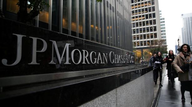JPMorgan nedjusterer forventning for nettorenter og falder