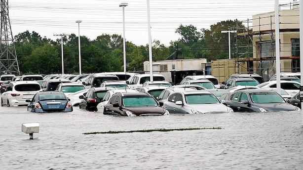 Orkanen Harvey puster detailsalget i USA i vejret