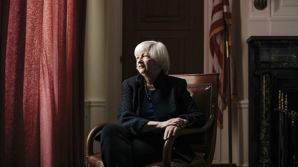 Yellen gik af som centralbankchef uden af fyre rentekanonen af