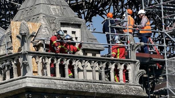 Efterforsker: Kortslutning kan være årsag til Notre Dame-brand