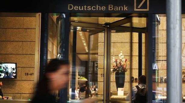 Tysk bank får hug på børsen for anden dag i træk efter strategiplan