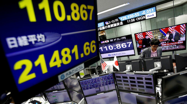 Aktier: Kursfald uden for Japan