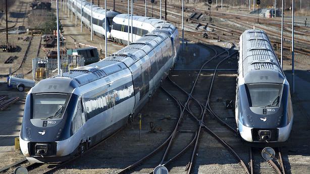 Forsinkede tog koster samfundet 2,4 mia. kr. årligt