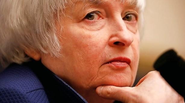 Yellens hovedbrud: Inflationen igen lavere end ventet