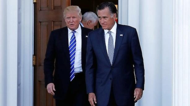 Romney står foran politisk comeback til ærgrelse for Trump