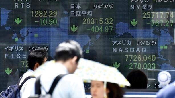 Aktier: Handelskrig forlænger de allerede markante kursfald i Asien