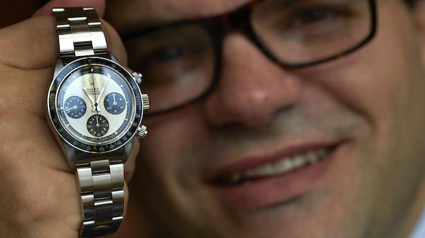 Vild verdensrekord: Brugt Rolex-ur solgt for over 113 mio. kr.