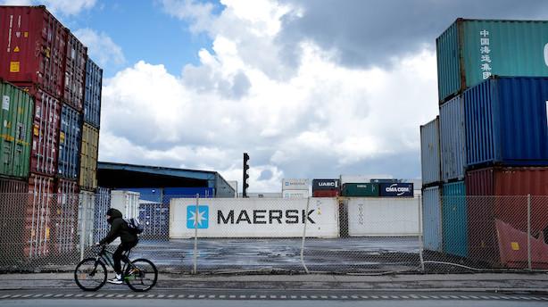 Aktier/middag: Svær dag for Mærsk og DSV i bekymring for handelskrig