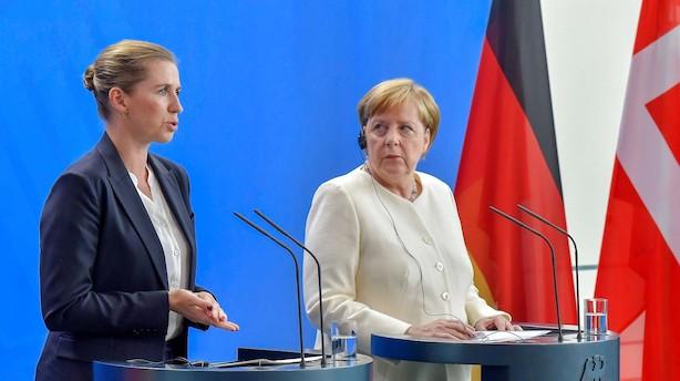 """Mette F hos Merkel: """"Der er kommet en ny statsminister i Danmark. Og det betyder et skifte på skat, også på den europæiske scene"""""""