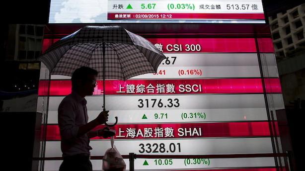 Aktier: Kraftige aktiekursdyk i Asien efter eskalering af handelskrig