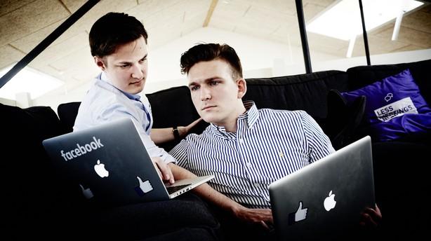 """Gymnasieduo byggede millionsucces på SU: """"Så ringede Facebook..."""""""