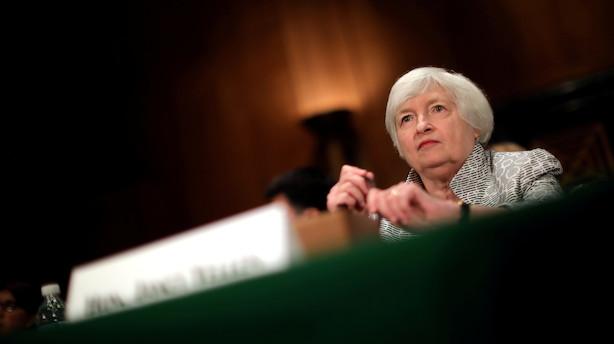 Jyske Bank: Yellen skubber mindre bag på USAs vækstdollargrin