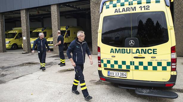 Regioner overvejer at tage ambulancedriften fra Falck