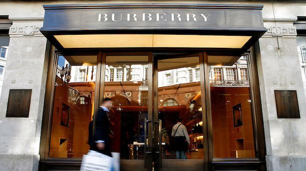 Europa: Burberry straffet i grønt aktiemarked trukket af banker