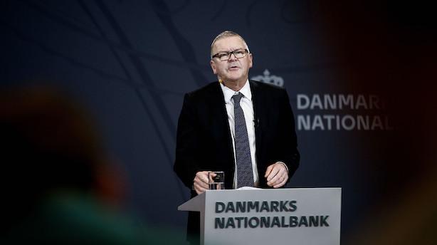 Nationalbanken: Valutareserven bakkede marginalt i oktober