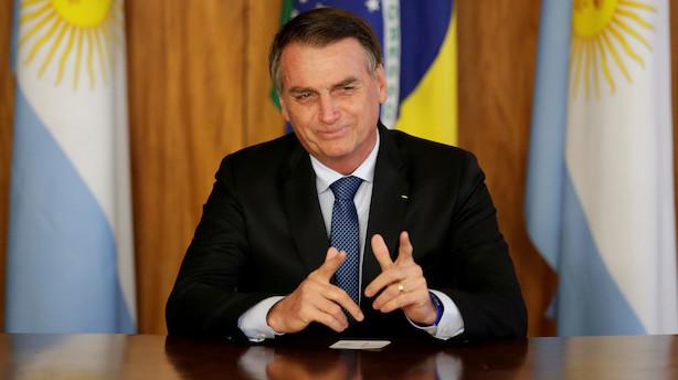 I Trumps fravær bliver Brasiliens Bolsonaro hovedattraktionen på årets Davos
