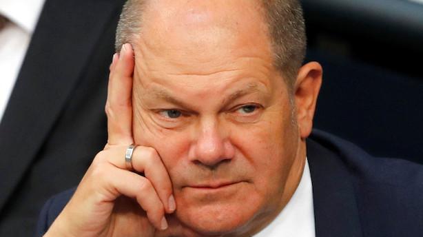 Tyskland: Scholz sværger budgetdisciplin - men har mia. klar