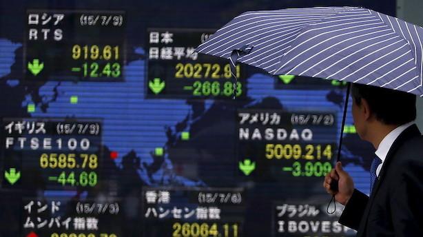 Aktier: Toldsatser og trusler tynger stemningen på tværs af markederne i Asien