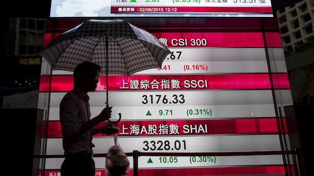Aktier: Håb om fornyet global vækst sender aktierne op i Asien