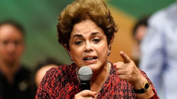 Brasiliens Dilma har ryggen mod muren inden rigsretssag