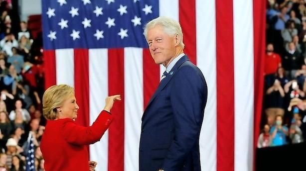 Bill Clinton skal drikke kaffe med Løkke i morgen