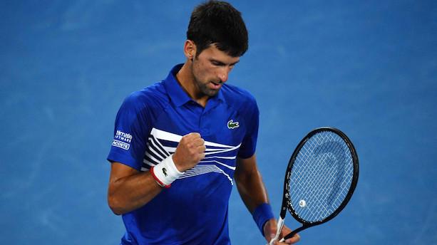 Novak Djokovic tværer Nadal ud i Australian Open-finale