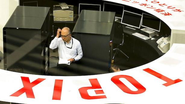 Aktier: Generelle stigninger men kursfald i Tokyo